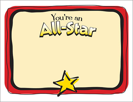 ALL STAR CERTIFICATE