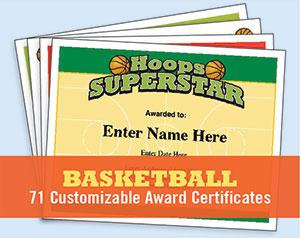 Basketball Certificates image