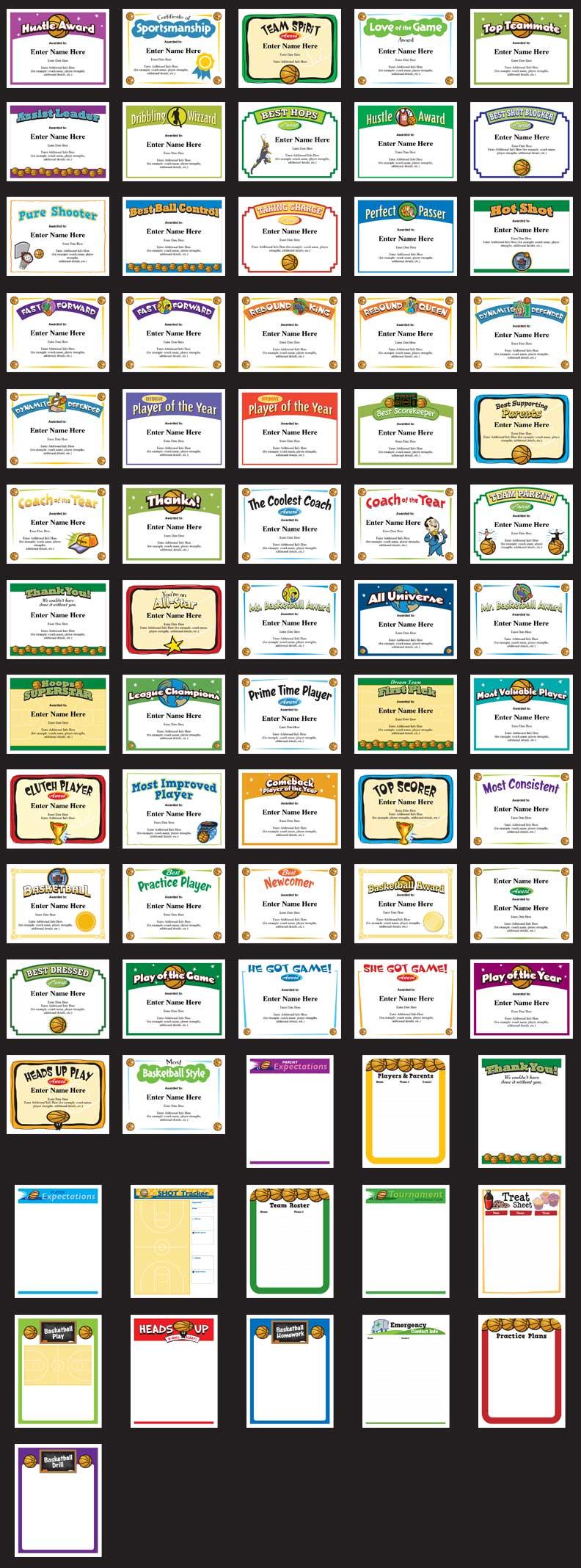 Baseball Certificates grid image