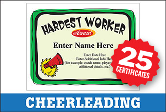 Cheerleading Award Certificates Bundle image