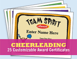 Cheerleading Certificates