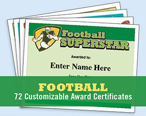 football certificates image