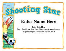 Shooting Star award certificate image