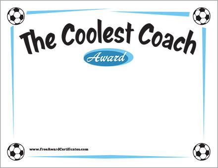 FREE Soccer Coach certificate