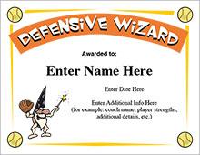Defensive Wiz certificate