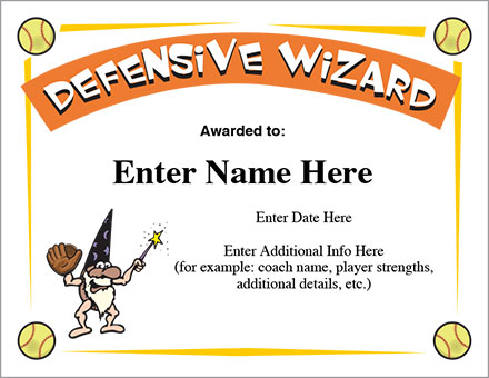Defensive Wizard Certificate