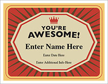 You're Awesome! certificate image