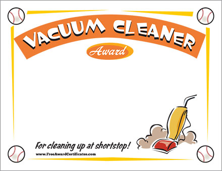 FREE Vacuum Cleaner certificate