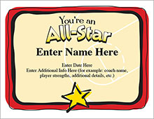 You're an All-Star award image