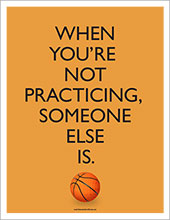 basketball practicing poster image