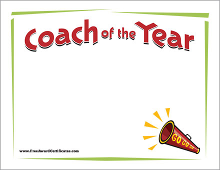 Coach of the Year Cheer FREE image