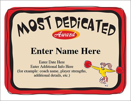 Most Dedicated Award