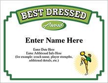 Best Dressed Cheerleader Certificate image