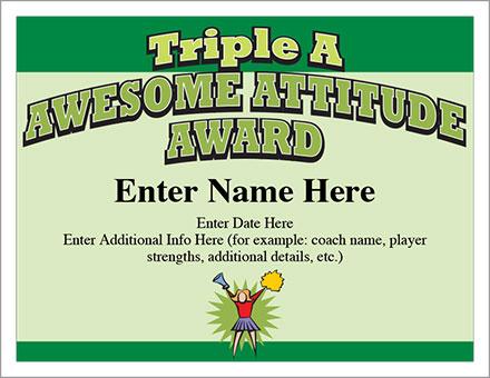 Awesome Attitude Award