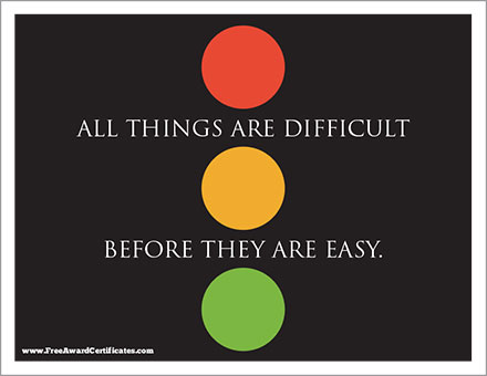 Difficult before Easy poster image