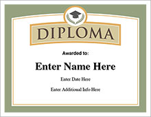 free diploma certifcate image