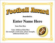 Football awards image