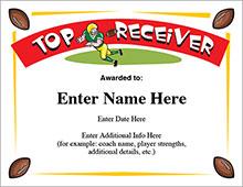 Football top receiver award image