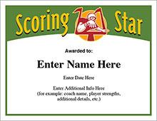 Football scoring star award image