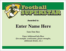 Football Superstar award image