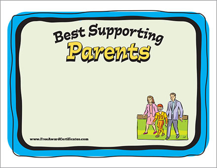 FREE football parents certificate