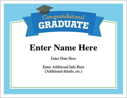 Congratulations Graduate Certificate