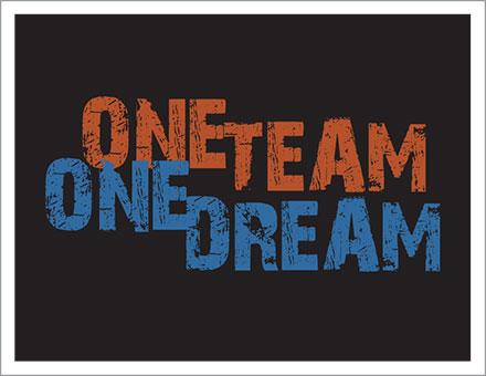 One Team One Dream t-shirt