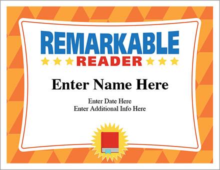 Remarkable Reader Certificate