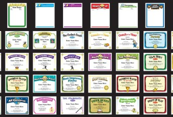 Baseball, softball, lacrosse and soccer certificates