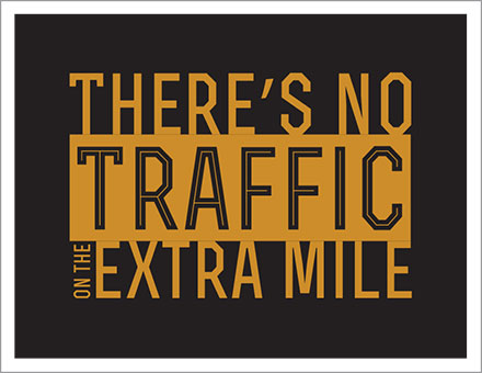 No traffic on the extra mile poster image