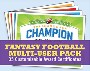 fantasy football certificates league pack