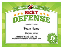 Fantasy Football League Awards image