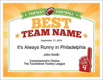 Best Team Name Award