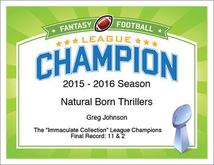 Fantasy Football Awards - League Champion