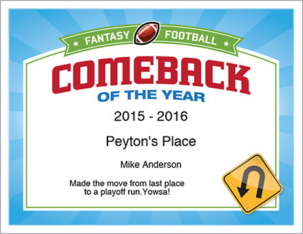 Comeback of the Year Award