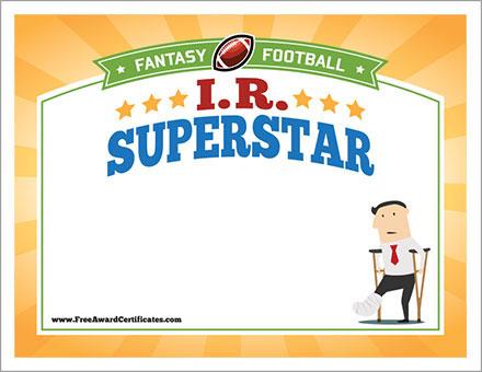Free IR Superstar cert image