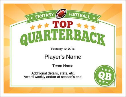 Top Quarterback Award