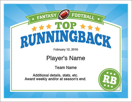 Top Running Back Award