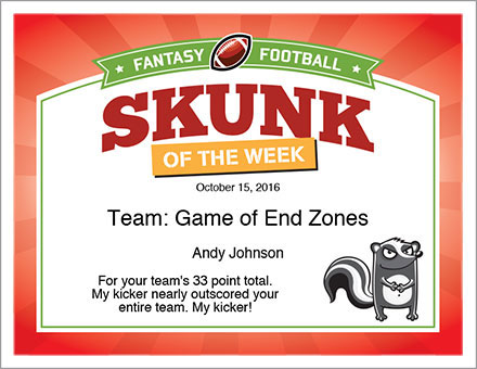 Skunk of the Week Award