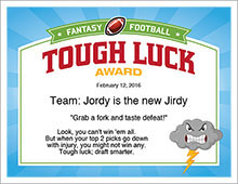 Tough Luck Award image