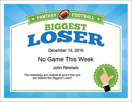 Loser certificate template 28 images loser invitations for Football certificate templates