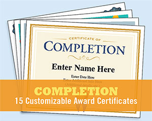 certificate of completion bundle image