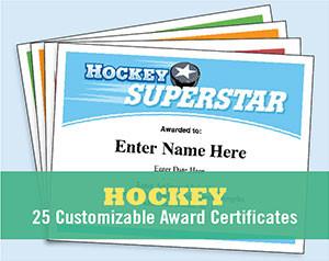 hockey certificates image