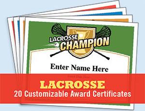 Lacrosse Certificates