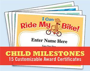 child certificates - milestones