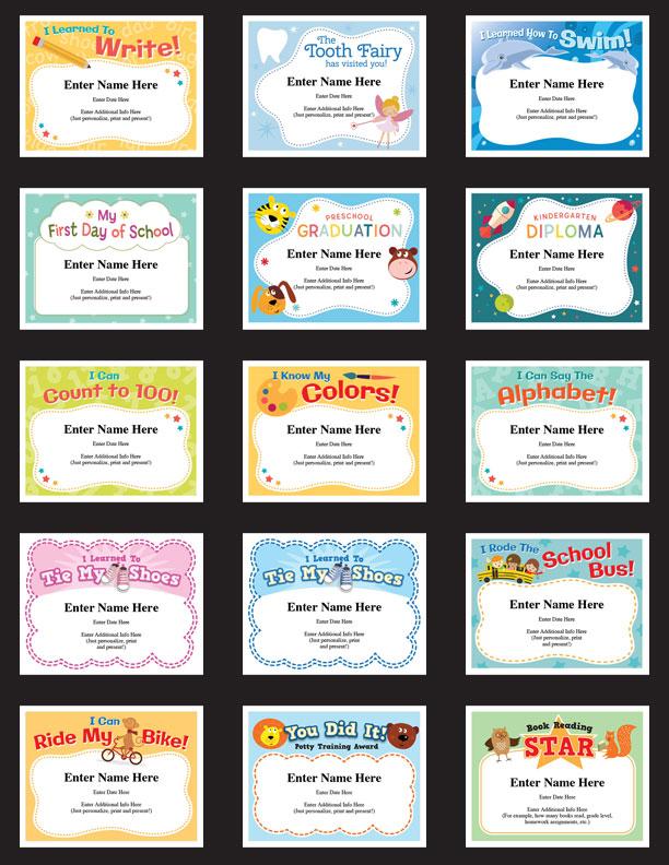 child certificates - kid milestones image