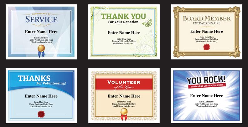 non profit certificates templates