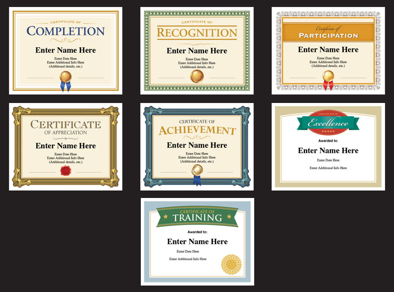 Professional Certificates Templates image