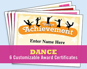 Dance certificate templates button