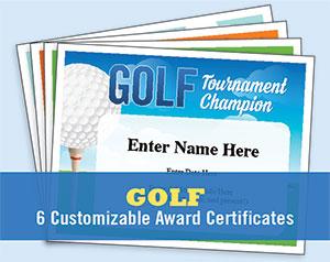 golfing certificates button
